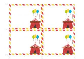 Inviti per il compleanno da stampare - Indagine al circo