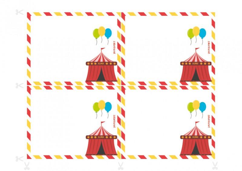 Inviti Per Il Compleanno Da Stampare Indagine Al Circo